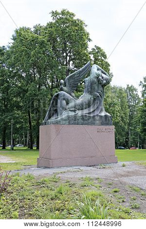 Monument To The Heroes Of The Epic Kalevala Air Fairy And Duck In Helsinki