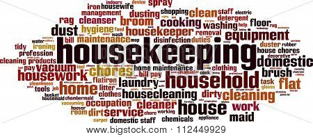 Housekeeping Word Cloud