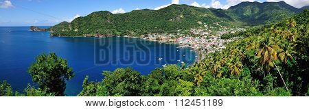 Panoramic Of Bay Of Soufriere