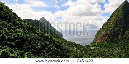 Pitons And Its Valley