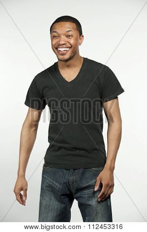 Happy Hip Black Male
