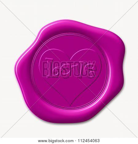 Pink wax seal