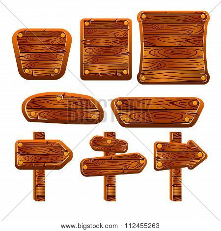 A Set Of Wooden Boards, Panels And Signs-4
