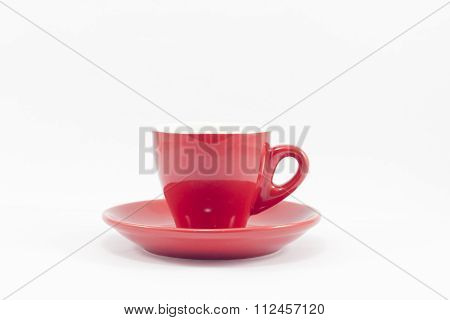Red Coffee Cup Isolated On White Background