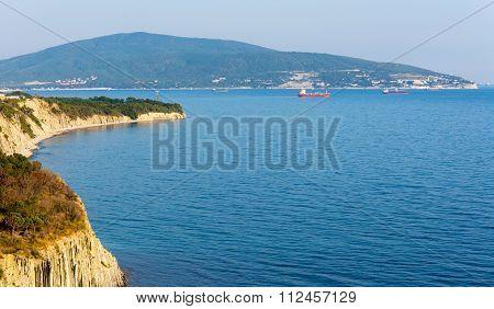 Bay in Novorossiysk. Black Sea