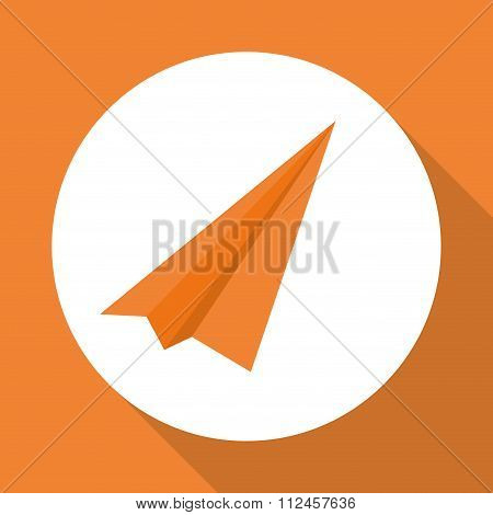Paperplane over circle design