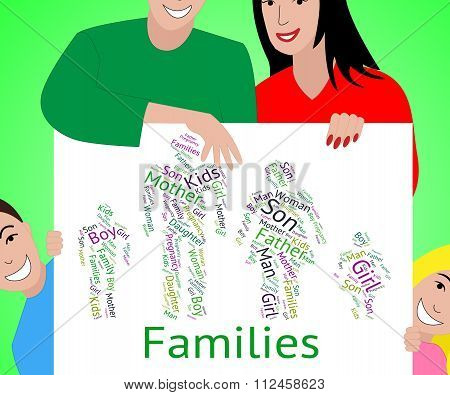 Families Word Represents Relations Family And Text