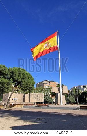 Madrid, Spain - August 23, 2012: Monument To The Discovery Of America. Gardens Of Discovery On Plaza