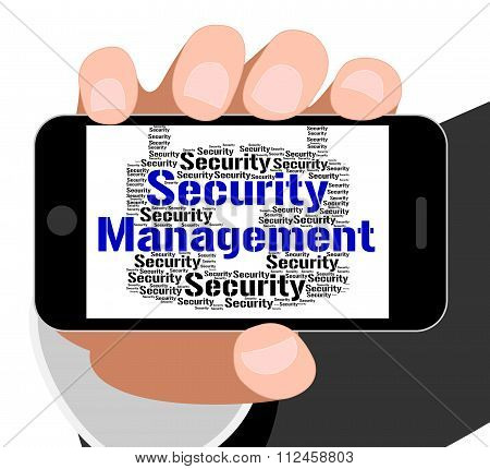 Security Management Means Administration Executive And Login