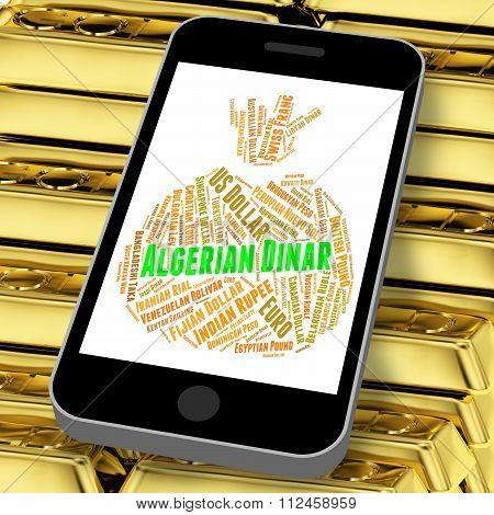 Algerian Dinar Indicates Worldwide Trading And Broker