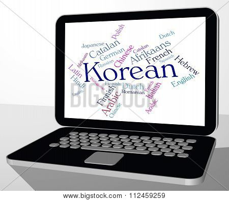 Korean Language Shows Wordcloud Words And International