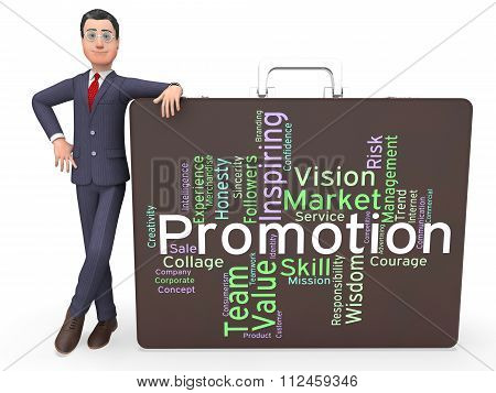 Promotion Words Represents Save Sale And Closeout