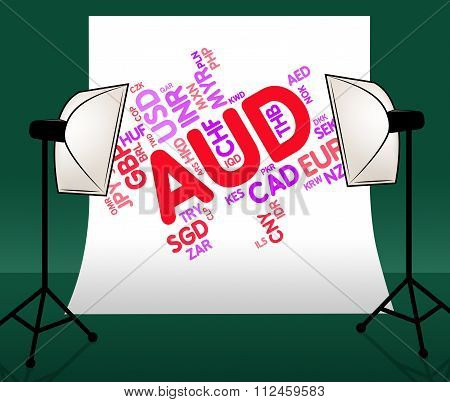 Aud Currency Means Exchange Rate And Coin
