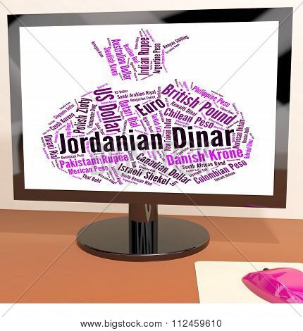 Jordanian Dinar Represents Currency Exchange And Broker