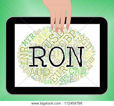 Ron Currency Means Worldwide Trading And Banknotes