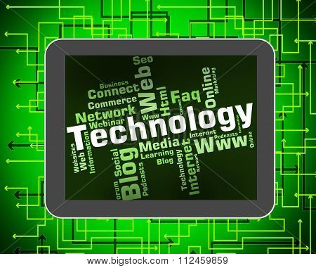 Technology Word Shows Digital Technologies And High-tech