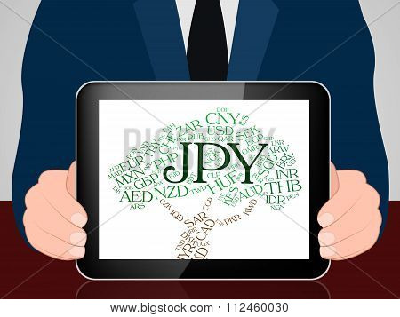 Jpy Currency Means Foreign Exchange And Currencies