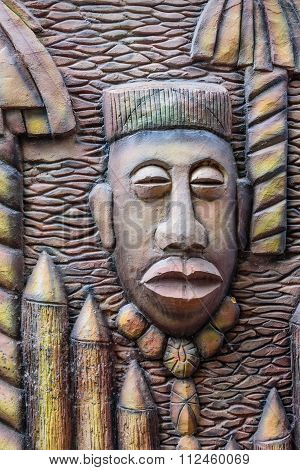 a Wooden carved mask