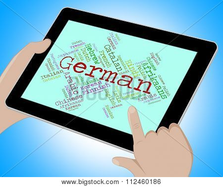 German Language Means Wordcloud Translate And Vocabulary