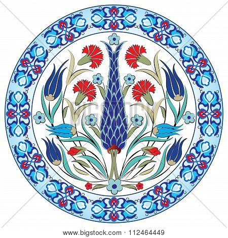Antique Ottoman Turkish Pattern Vector Design
