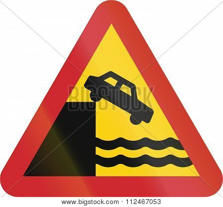 Road Sign Used In Sweden - Quayside Or Ferry Berth