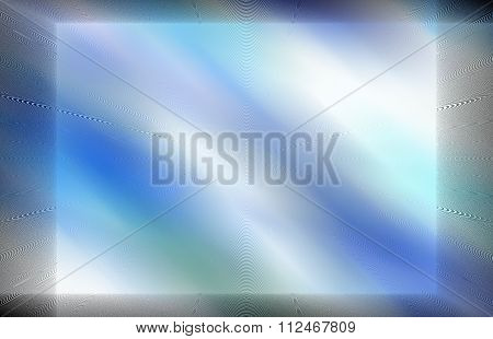 blue and white background with darker framing