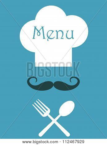 Retro style restaurant menu design