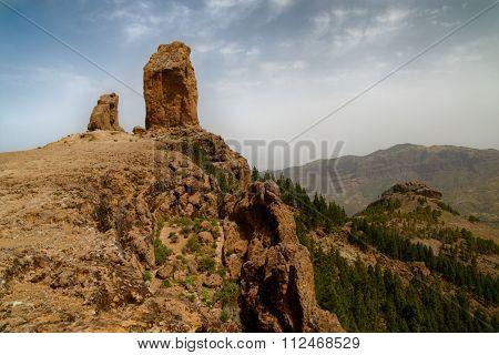 Roque Nublo National Park In Gran Canaria Island