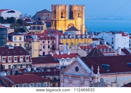 Cathedral Of St. Mary In Lisbon