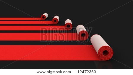 Red Carpets. Image with clipping path