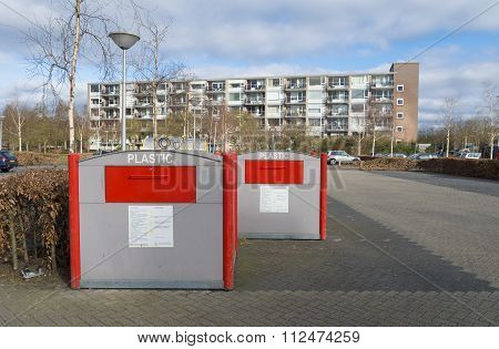 Waste Containers In Residential Area
