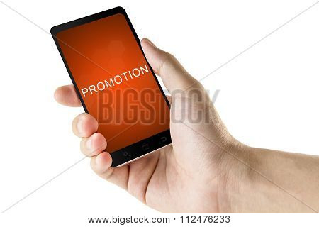 Promotion Word On Digital Smart Phone