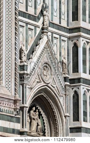 Gothic decorations on Florence Cathedral