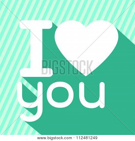 an images of illustration vector I love you