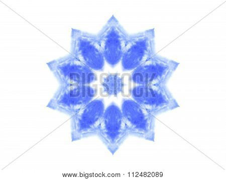 Abstract Blue Watercolor Shape