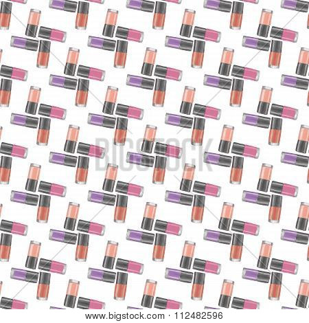 Nail Polishes Seamless Pattern