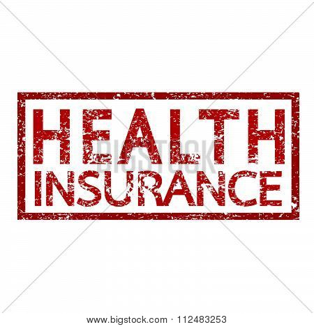 an images of illustration vector Health Insurance Word