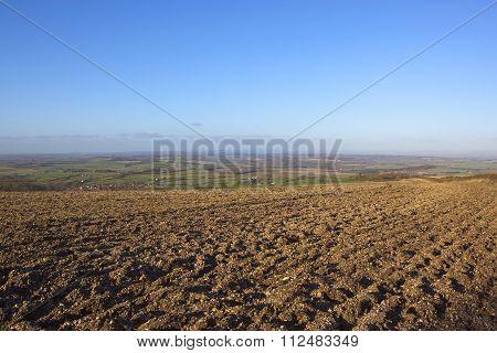 Patterned Plow Soil