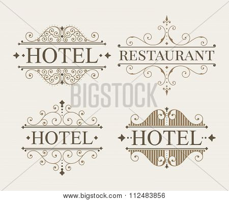 Luxury logo and monogram template set.