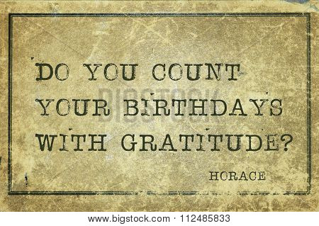 Count Birth Horace