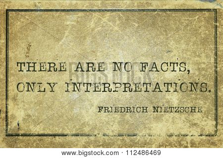 No Facts Nietzsche