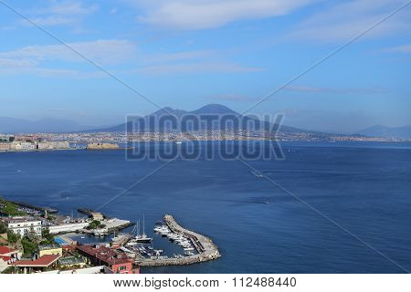 Naples, Italy - October 16, 2015: Panorama Of Naples