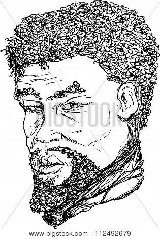African Man Outline