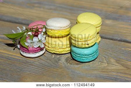 pastries macarons from the egg whites