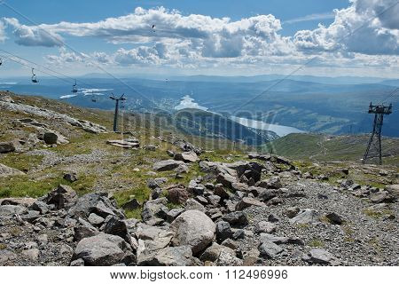 Ski Lifts, Cable Car Wire, Paragliders