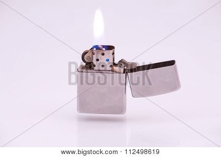 Cigarette Lighter On A White Background.