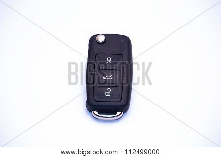 Isolated Car Key With Remote Control.