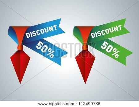 Set of commercial sale and discount stickers, elements and badges, vector illustration.