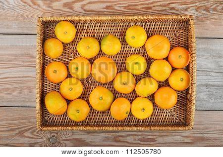 Mandarin On Wickered Tray