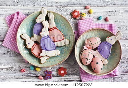 Easter Bunny Cookies. Shortbread Cookies.
